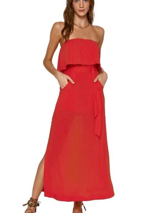 Solie Glenda Red Long Dress