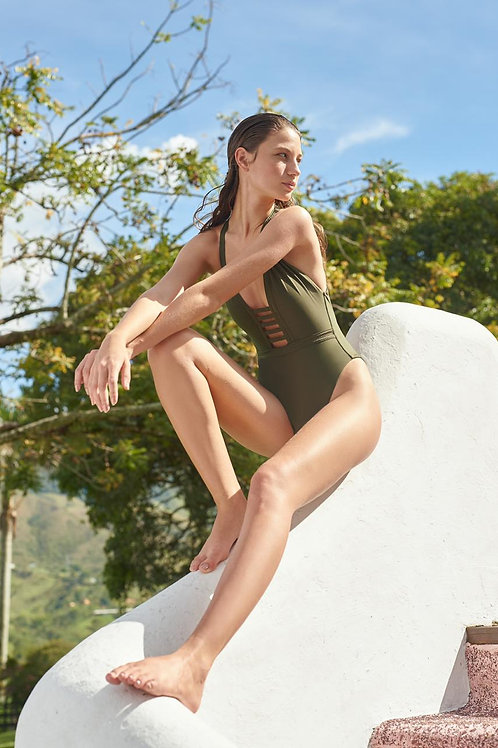 Carlotta One Piece- Solid Olive