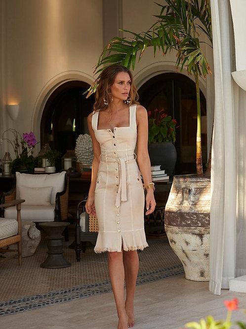 Ruby Tan Midi Dress
