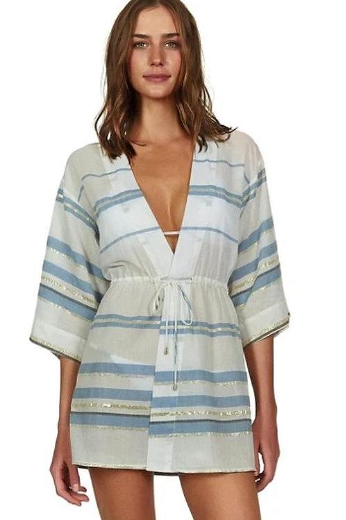 Vix- Solid Lara Kimono-Blue