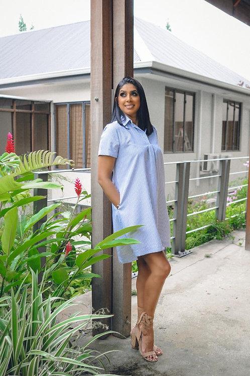BC Blue & White Stripe Dress