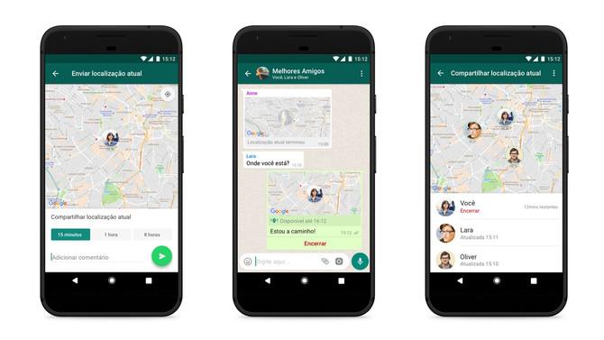 WhatsApp vai ganhar compartilhamento de localização em tempo real