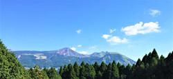 阿蘇の山々を望む絶景