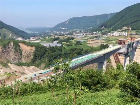 工事中の阿蘇大橋