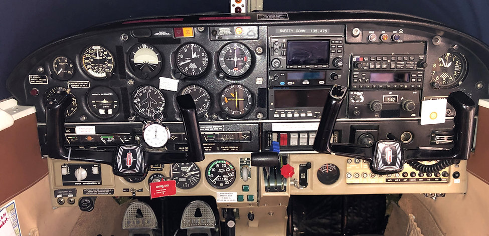 Control Panel Pipe Arrow G-AYAC