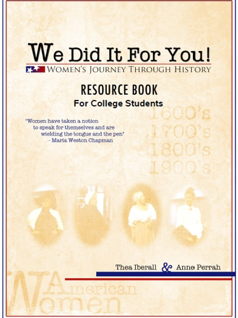 THE WE DID IT FOR YOU! RESOURCE BOOK FOR COLLEGE STUDENTS