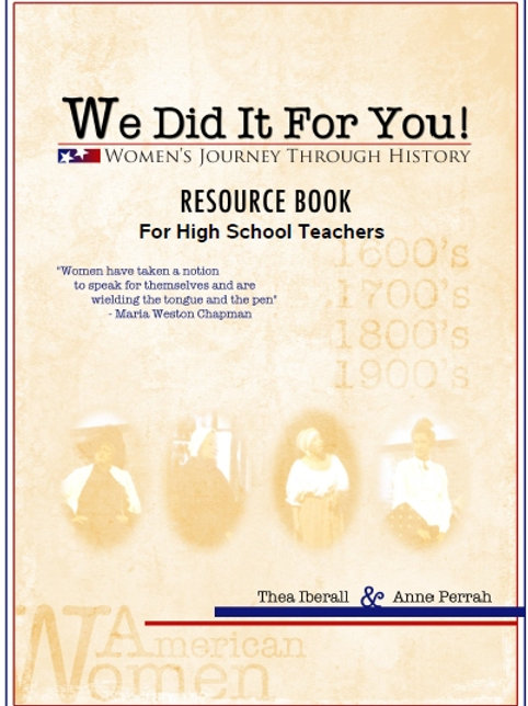 THE WE DID IT FOR YOU! RESOURCE BOOK FOR HIGH SCHOOL TEACHERS