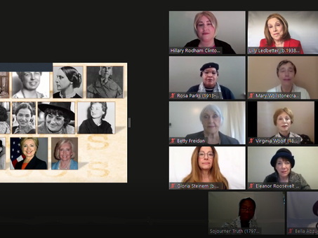 Our first online play-reading - huge success