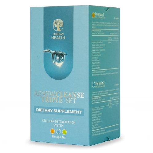 RENEW CLEANSE TRIPLE SET - BODY CLEANSING & DETOX SYSTEM (90 CAP) (VEGETARIAN CA
