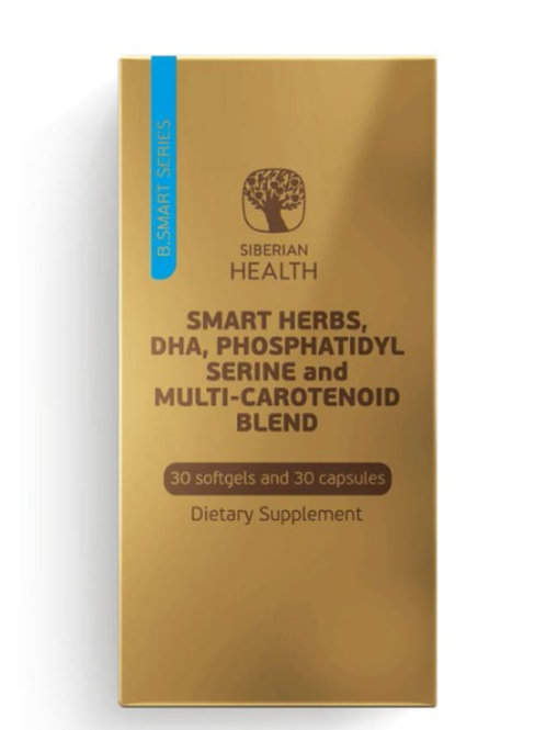 SMART HERBS, DHA, PHOSPHATIDYL SERINE AND MULTI-CAROTENOID BLEND