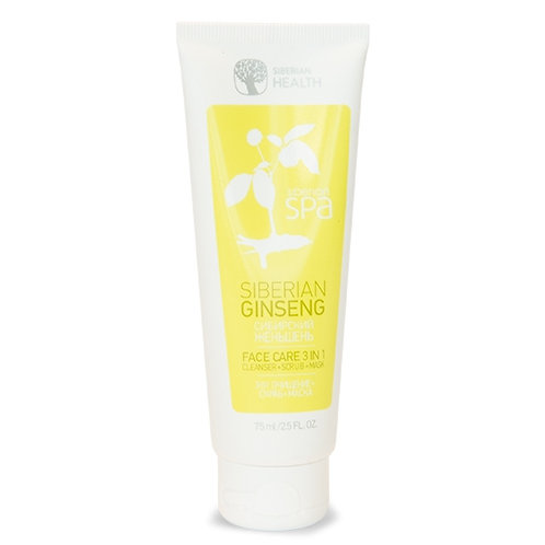 SIBERIAN GINSENG FACE CARE CLEANSING + SCRUB + MASK (75ML)