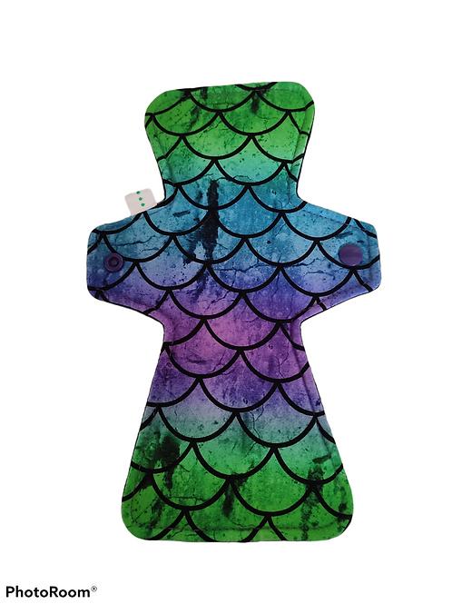 "10""  Jersey,  regular cloth pad, purple/green scales"