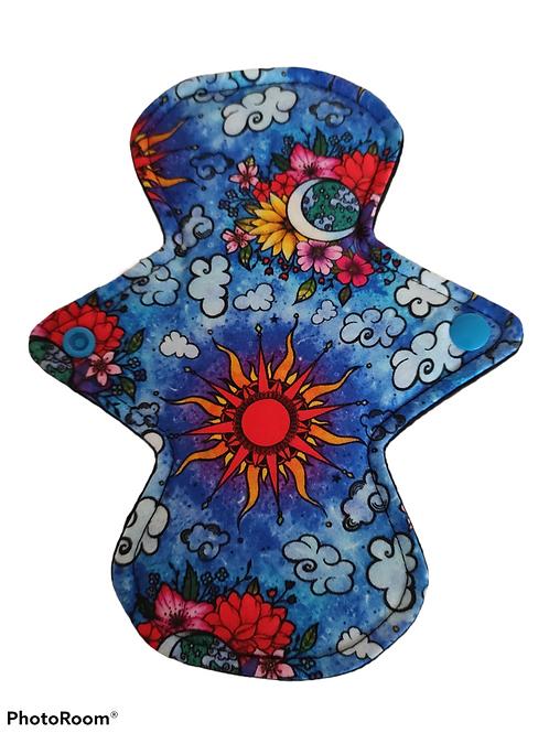 "8"" Jersey  regular cloth pad. Sun and Moon"
