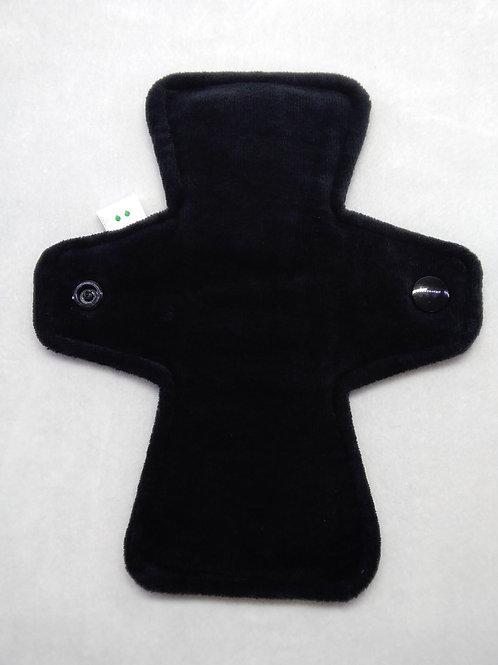 "7"" Organic cotton velour, light flow, midnight black"
