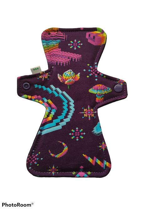 "9"" Oeko-Tex Jersey, regular cloth pad. Purple pixels"