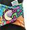 "Thumbnail: 9"" Organic Jersey, regular cloth pad. colourful roses"