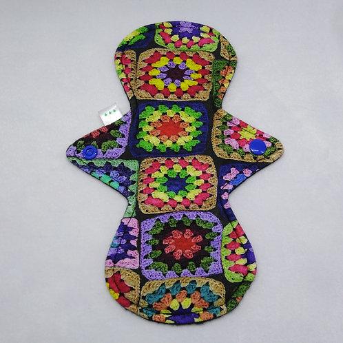 "9"" Oeko-Tex  Jersey regular cloth pad, Granny squares"