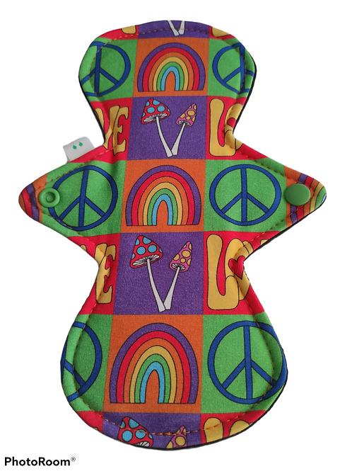 "9"" Jersey,  light cloth pad. Love & Peace"