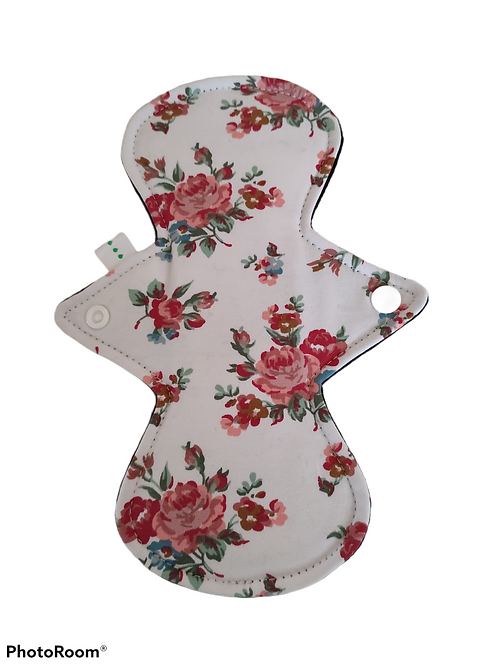 "9"" Jersey, regular cloth pad, roses."