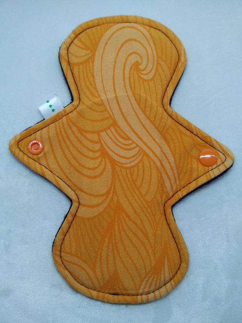 "8"" Jersey  regular cloth pad, Orange Swirls"