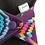 "Thumbnail: 9"" Oeko-Tex Jersey, Heavy flow cloth pad. Purple pixels"