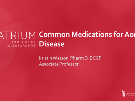 Common Medications for Aortic Disease