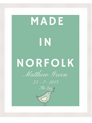 NEW BABY - MADE IN NORFOLK - MINT
