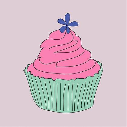 Single Cupcake Card