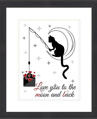 LOVE YOU TO THE MOON ...FRAMED PRINT