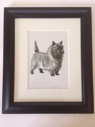 West Highland Terrier Vintage Style Print