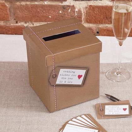 WEDDING POST BOX & 50 CARDS
