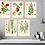 Thumbnail: 6 x Botanical Prints Set A WITH FRAME
