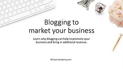 Blogging to market your business