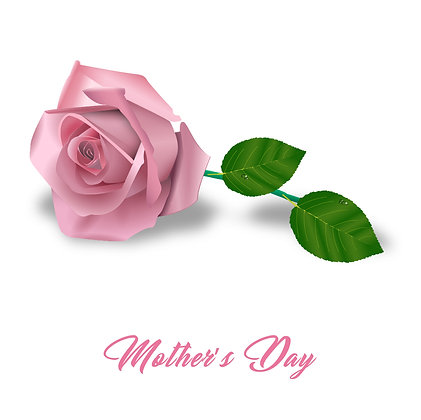 Pink Rose Mother's Day Card