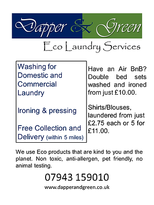Dapper and Green Window Signs laundry.pn