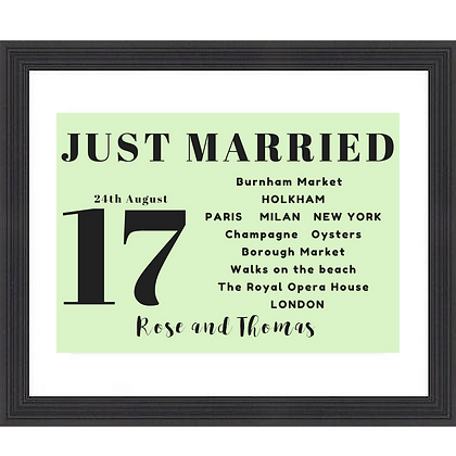 JUST MARRIED BUS STOP SIGN MINT