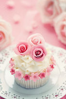 CUPCAKE+WEDDING+VINTAGE+INDIVIDUAL+ROSES
