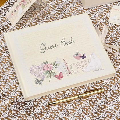 Wedding Guest Book - With Love