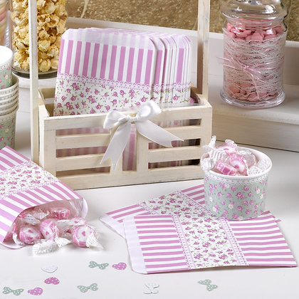 Candy Stripe Sweet Bags