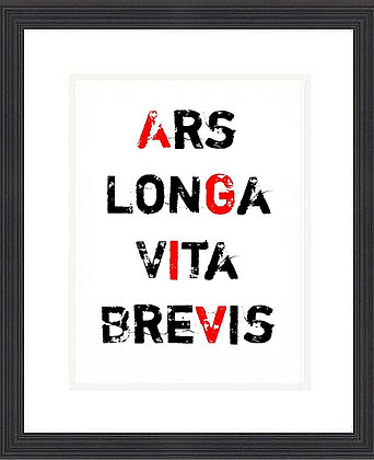 ART IS LONG LIFE IS BRIEF FRAMED PRINT