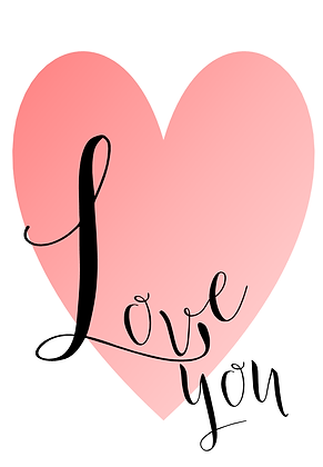 Love You Typography Print