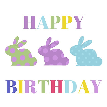 BUNNIES HAPPY BIRTHDAY CARD