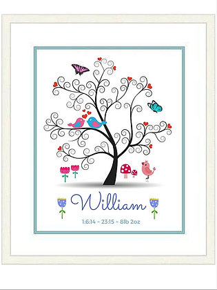 NEWBORN WILLIAM FRAMED PRINT