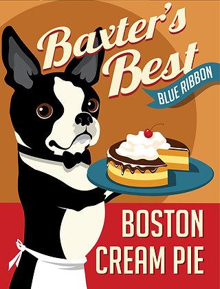 BOSTON CREAM PIE MOUNTED PRINT