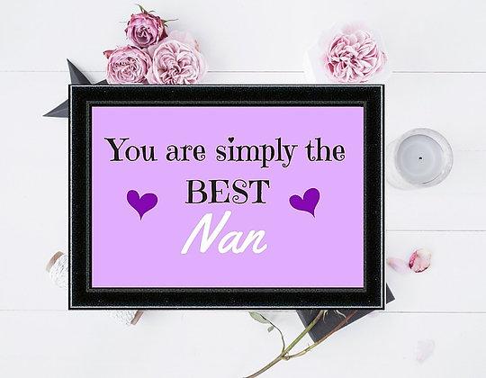 SIMPLY THE BEST NAN