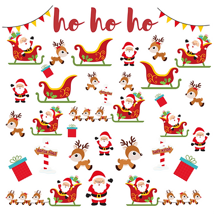 Ho Ho Ho Christmas Card Pack of 10 + 2 Free!