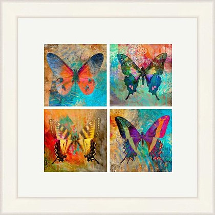 FRAMED PRINT BUTTERFLY COLLAGE