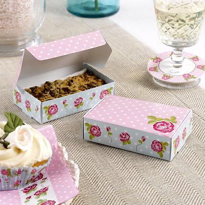 Vintage Rose Cake Boxes