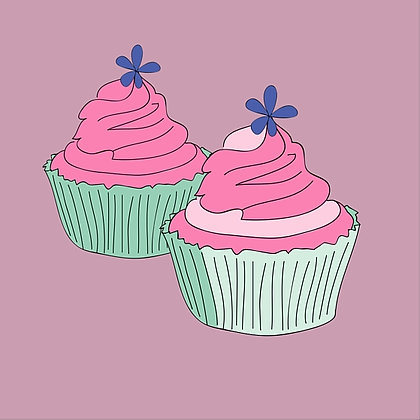 Double Cupcake Card