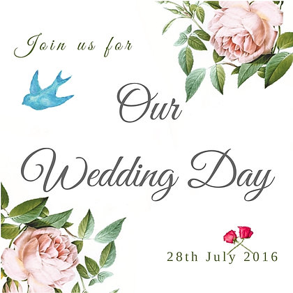 WEDDING INVITATION ROMANTIC ROSE - 50